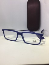NEW Authentic Ray Ban RB 7043 5467 Matte Blue RX Eyeglasses 52-14-140 - $37.39