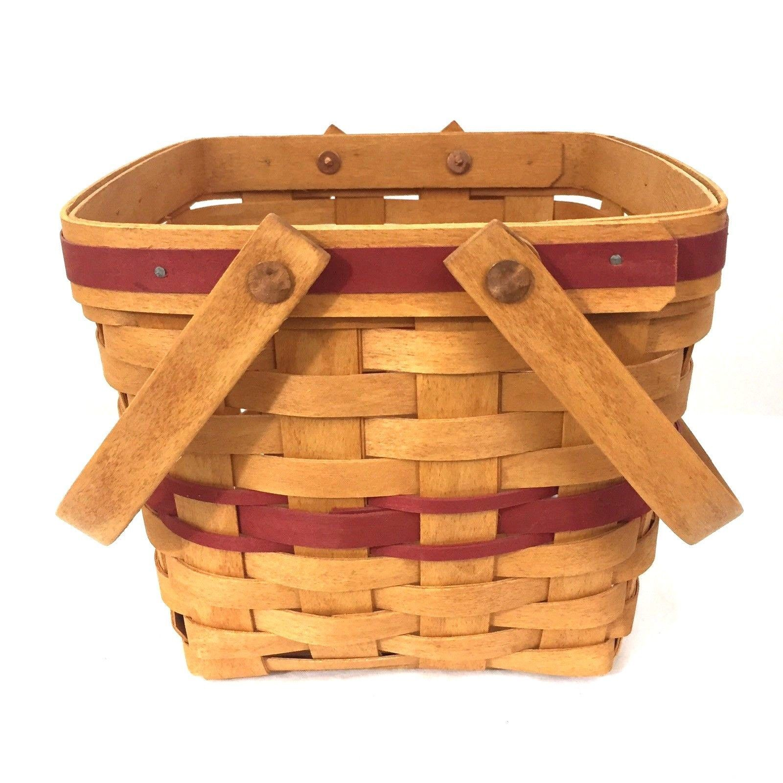 Longaberger Christmas Collection 1995 Edition Cranberry Basket Vintage