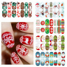 BAHYHAQ - Snowflakes Letters Christmas 3D Nail Art Sticker Tips Decals M... - $0.60