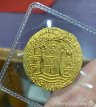 "PERU 1712 8 ESCUDOS ""1715 FLEET SHIPWRECK"" RAW PIRATE GOLD COINS TREASURE - $20,000.00"