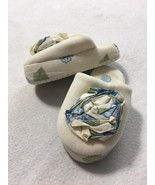 Gymboree Toddler 7 8 Petit Four Ivory Blue Green Rose Floral House Slippers - $9.99