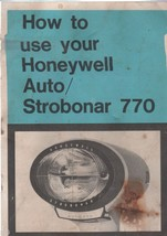 How to use your HONETWELL Auto Strobonar 770 Booklet - $4.00