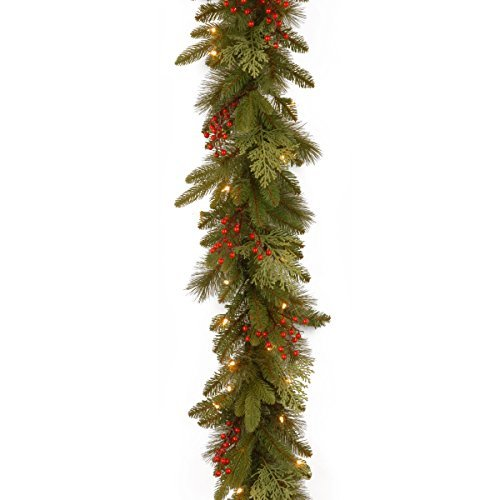National Tree 9 Foot by 12 Inch Feel Real Classical Collection Garland with Ceda