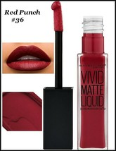 2 X Maybelline Color Sensational Vivid Matte Liquid Lipstick   RED PUNCH #36 - $11.75