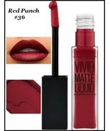2 X Maybelline Color Sensational Vivid Matte Liquid Lipstick   RED PUNCH... - $11.75
