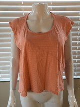 SPLENDID XS Womens Peach Sleeveless Jersey Knit Top Shirt Tee Asymetrica... - $7.25
