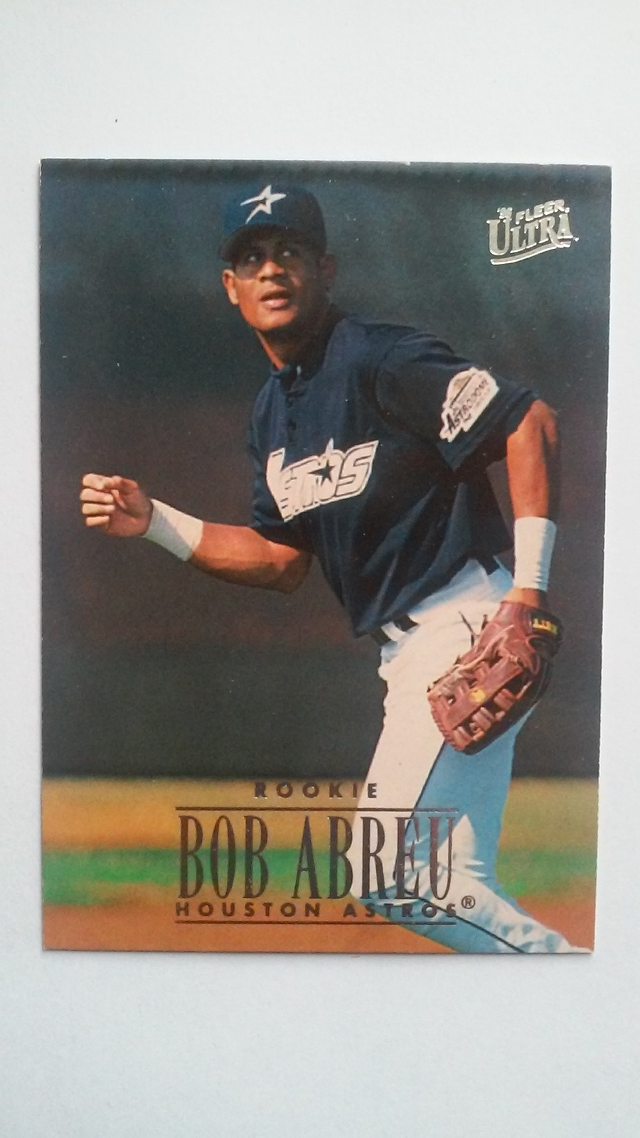 Bobby Abreu 1996 Fleer Ultra Rookie Card #483 Houston Astros Free Shipping