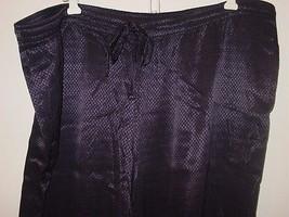 Lane Bryant dark blue diamond print pants drawstring elastic-18/20 2X-$60. NEW - $12.16