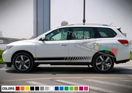 Sticker decal for Nissan Pathfinder door mirror Stripes left + right side 2018 - $49.90