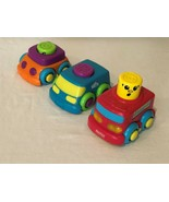 Fisher Price Stack N Surprise 3 Stacking Cars Trucks Toys Firetruck Ligh... - $11.99