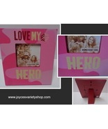 LOVE MY HERO Homefront Girl Wood Photo Frame NWT 4 x 4 photo Pink Camo - $12.99