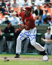 BRIAN SCHNEIDER Signed Washington Nationals Swinging 8x10 Photo - SCHWARTZ - $14.84