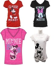 Disney Women Fashion T Shirt Minnie Mouse 1928 Classic T shirt Red, Whit... - $16.99
