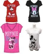 Disney Women Fashion T Shirt Minnie Mouse 1928 Classic T shirt Red, Whit... - $16.99