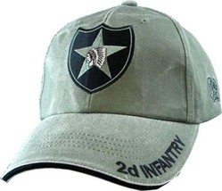 US ARMY 2ND INFANTRY - U.S. Army OD Green Military Baseball Cap Hat - $23.95