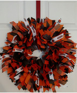 CLEVELAND BROWNS Ribbon Wreath - Team Collectible  - Custom Made -- 3 Si... - $50.00