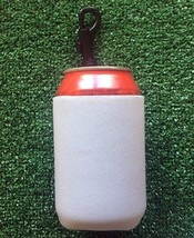 White neoprene can koozie with handy clip. - $77,84 MXN
