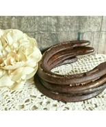 SET OF 4 *Authentic* Good Luck Horseshoes, Rusty & Aged With Patina, Nic... - $45.54