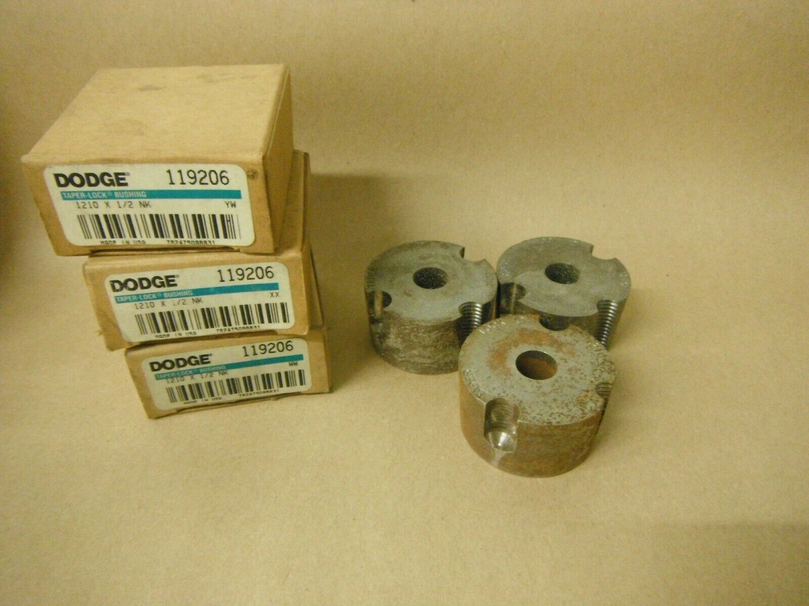Primary image for (Qty 3) DODGE 119206 1210X1/2 TAPER LOCK BUSHING