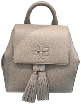 Tory Burch Thea Mini Gray Leather Backpack - $299.00