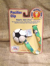 "NEW BABY GUND MOST VALUABLE BABY SCOCCER Pacifier Clip  2"" ~ NEW CARDED - $5.86"