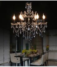 "Athena Iron & Crystal Chandelier Vintage E14 Light Ceiling Lamp 25.5"" - $346.19"