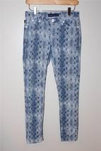 W8616 womens ROCK & REPUBLIC stone wash SNAKESKIN print SKINNY LEG denim... - $18.30