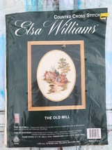 Elsa Williams THE OLD MILL Vintage Counted Cross Stitch 02065 Collectibl... - $26.18