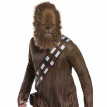 Star Wars Chewy Chewbacca Fur Half Halloween Mask Brown - $21.98