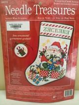 NIP Needle Treasures Counted Cross Stitch Santa's Wish Stocking Kit 08552 - $49.49