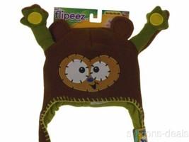 Flipeez Monkey Squeeze Flip Hat As Seen On TV Brown Winter Warm Lined Ac... - $13.99