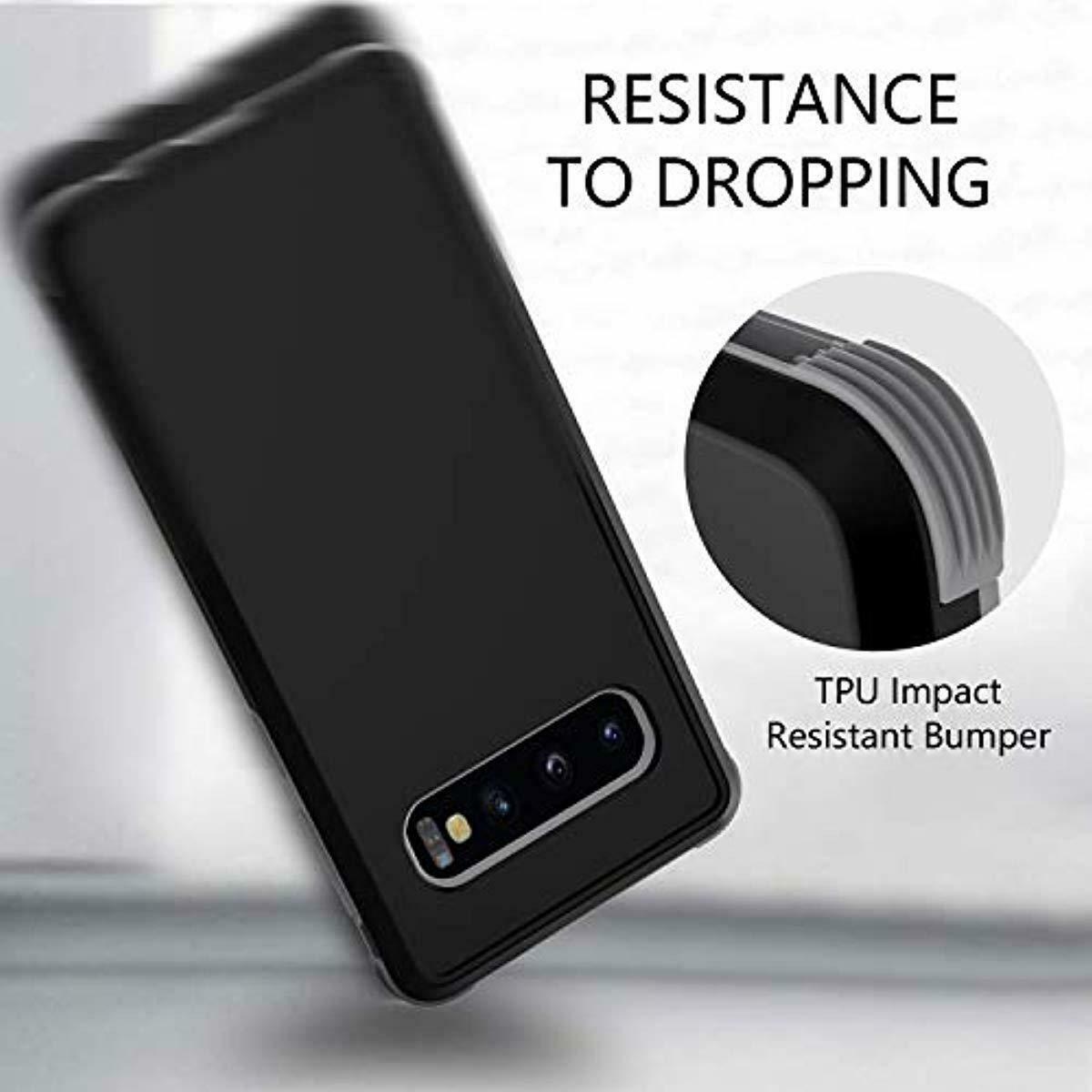 OTBBA Samsung Galaxy S10 Case Shock Absorption Hybrid Anti Scratch Bumper Black