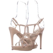 Marc Fisher Jaslyn Strappy Sandals 529, Medium Natural Leather, 8.5 US - $25.91