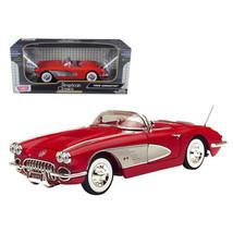1958 Chevrolet Corvette Convertible Red 1/18 Diecast Model Car by Motormax - $54.94