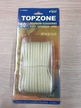 50 FT 4C Modular Telephone Cord Extension Phone Cord Cable Line Wire Ivory   AB2