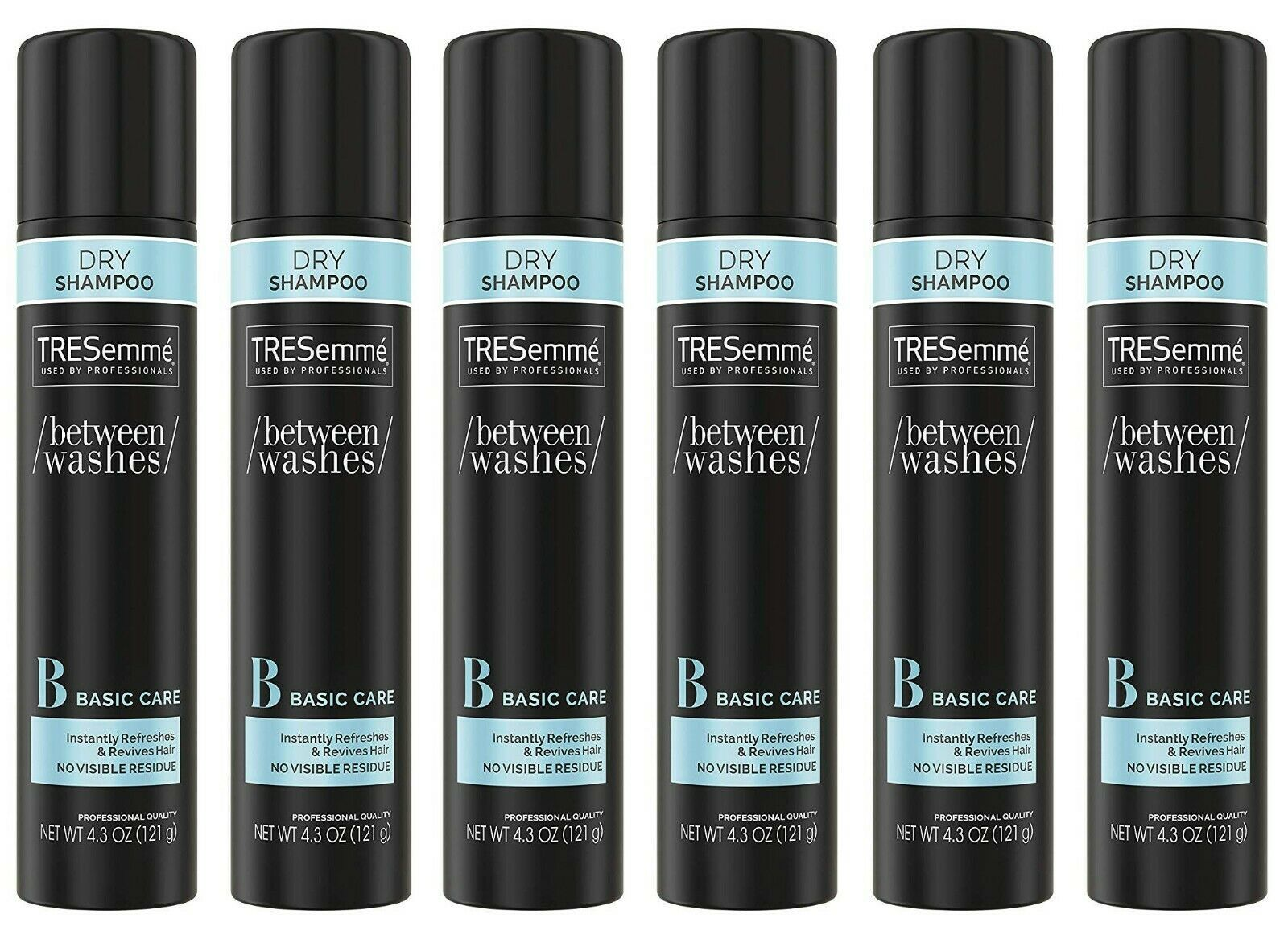 6 Pack of TRESemmé Dry SHAMPOO For Brittle Dry Hair 4.3oz each No Residue/Water