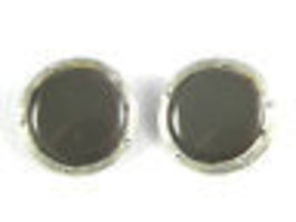 Lisner Thermoplastic and silvertone Clip On Earrings Vintage Jewelry - $20.69