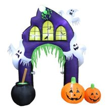 Outdoor Halloween Decoration Lighted Ghosts Archway Giant Hounted Castle - £158.06 GBP