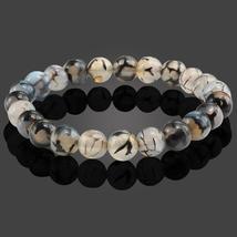 2018 Fashion 8MM Natural Stone Bracelets & Bangles For Women Men Black D... - $14.00