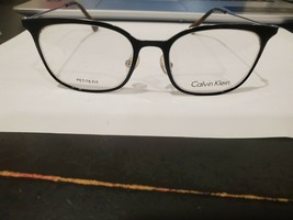 NEW Calvin Klein CK 5432 001 47.17.135 Shiny Black Metal Unisex Eyeglass... - $44.55