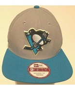 Pittsburgh Penguins Team Logo NHL Adult Unisex Gray Blue Black Cap One S... - $34.64