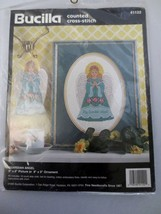 Bucilla Counted Cross Stitch Kit Guardian ANGEL1995 Picture Or Ornament 41122 - $10.00