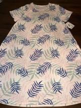 NWT LuLaRoe Stunning 2XL Jesse Swing Dress White Pink Blue Green Palm Leaves - $44.54