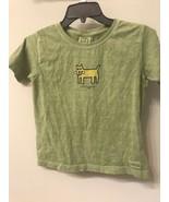 Life is Good Kids Girls MEDIUM (10) T-Shirt Cool Dog Green - $9.89