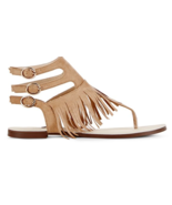 New Just Fab Women's Size 9 Poca 3 Buckle Ankle Strap Natural Sandals - $23.65