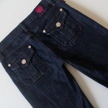 Rock & Republic Womens Jeans Size 27 (30x31 measured) Suzie Wide Leg Dark - $25.11