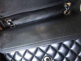SALE* AUTHENTIC Chanel Quilted Lambskin Classic Medium Black Double Flap Bag SHW image 12