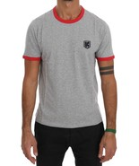 Kenzo Gray Red Cotton Crewneck T-Shirt - $86.58