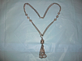 PARK LANE SILVERTONE DOUBLE CHAIN +HEART ACCENTS W DANGLE TASSEL FASHION... - $25.00