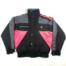 Vintage 90s Größe M Black Bear Ski Down Isoliert Bauschig Neon Farbblock... - $81.31